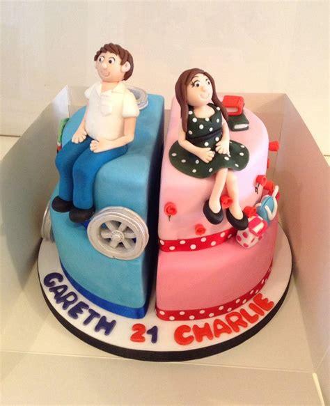 split cakes split boy 21st birthday cake cakes