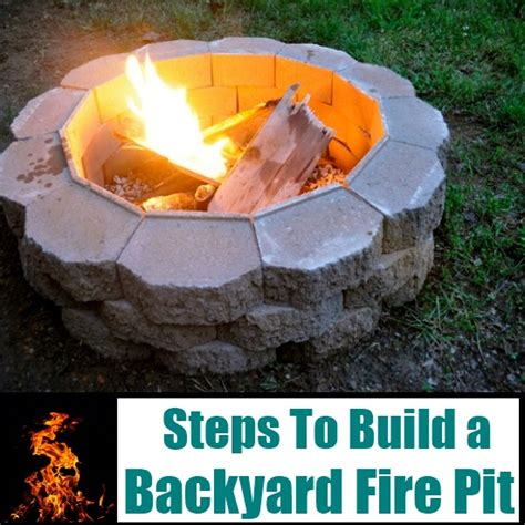 How To Build A Backyard Fire Pit Diy Home Things How To Build A Backyard Firepit