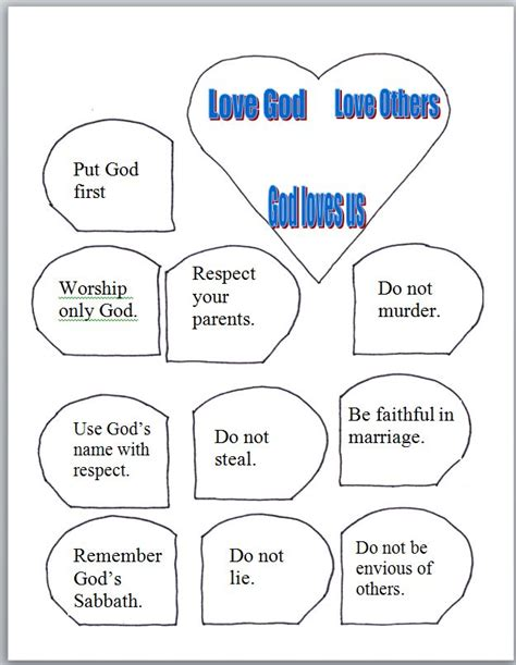 10 commandments craft for free coloring pages of great commandment