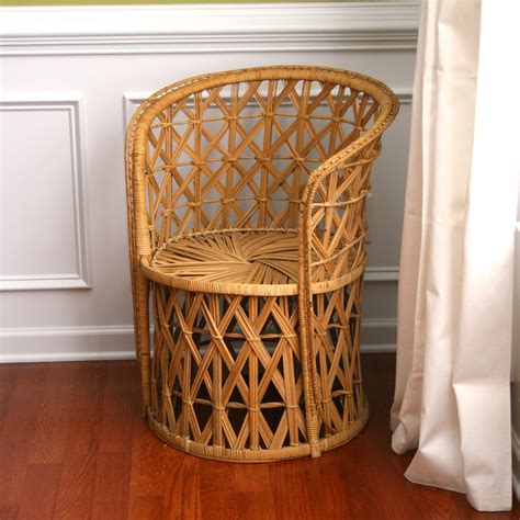 vintage rattan chair reserved fall autumn home decor