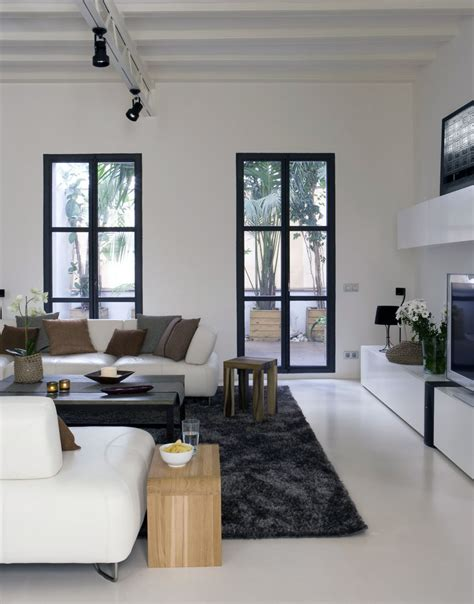 small living room with french doors
