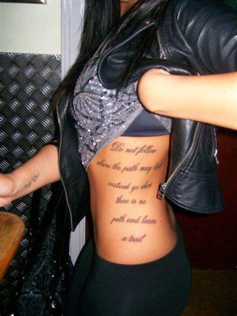 tattoo for ribs girl rib tattoos girls amazing art gallery
