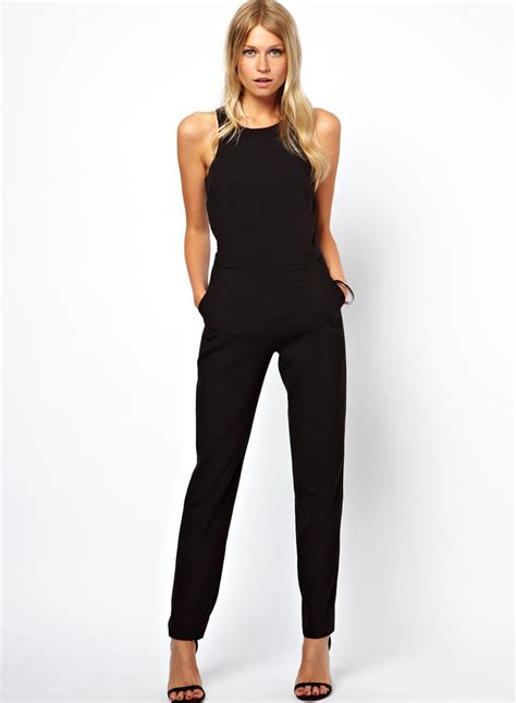 High Waist Jumpsuit sleeveless slit back high waist pockets jumpsuit novashe