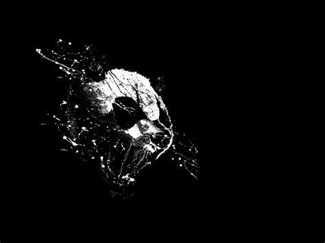 wallpaper black and white panda download wallpapers download 2560x1920 minimalistic
