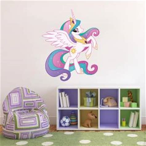 my little pony home decor princess celestia my little pony decal removable wall