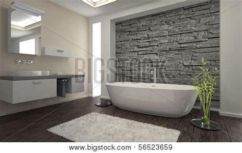 badezimmer steinwand modern bathroom interior wall image photo bigstock