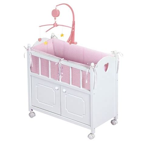 target doll bed badger basket doll crib with cabinet target
