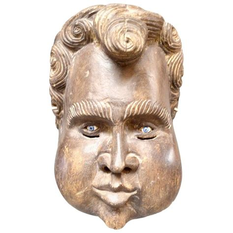 cherub mask sculptural wood cherub mask carving for sale at 1stdibs