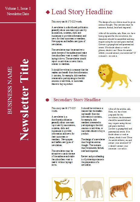 customizable newsletter templates free download