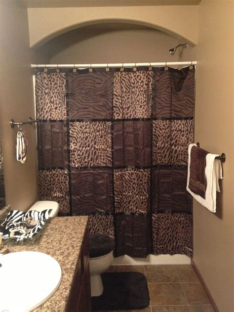 bathroom brown and cheetah decor love this the new