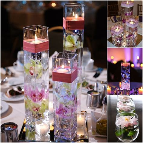 wedding centrepieces with floating candles wodnerful diy unique floating candle centerpiece with flower