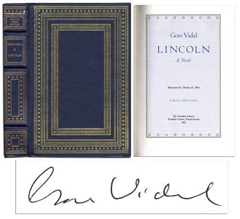 lincoln vidal lot detail vidal lincoln signed limited