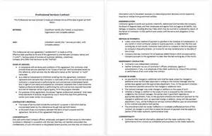 Professional Contract Template by Professional Services Agreement Template Microsoft Word