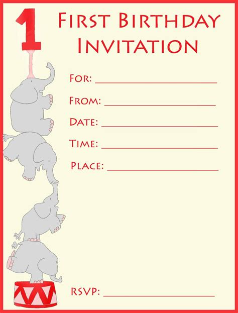invitation information template 1st birthday invitations make your own or find a template