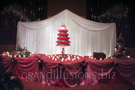 cake table backdrop wedding grand illusions