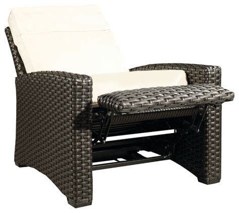 outdoor wicker recliners hauser beach house all weather wicker recliner with
