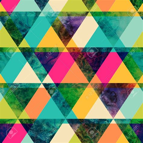 triangle pattern hipster free hip background patterns download watercolor