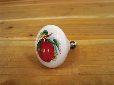Apple Cabinet Knobs by Porcelain White Apple Drawer Cabinet Knob Pull Handle