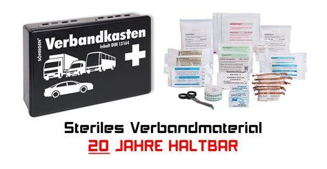 Kfz Verbandkasten Inhalt by S 246 Hngen Kfz Verbandkasten Pkw Din 13164 20 Jahre Haltbar