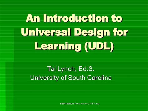 universal design for learning powerpoint udl powerpoint