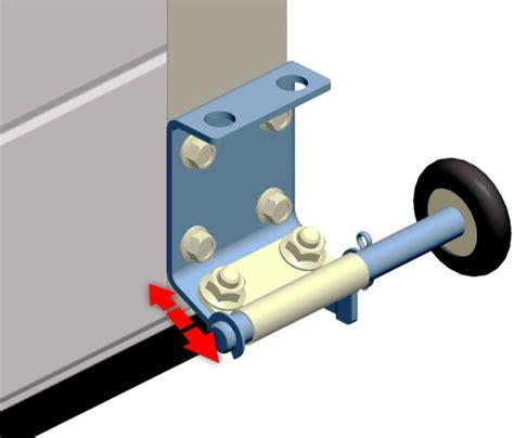 Upgrading Of The Bottom Roller Brackets Applied For Garage Garage Door Roller Bracket
