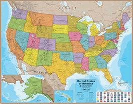map usa for sale wall maps of the united states for sale