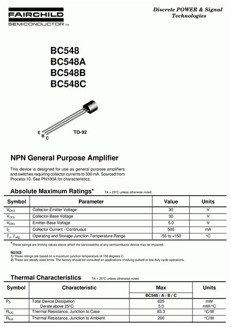 transistor bc548 pnp bc548 pnp transistor datasheet 28 images bc548 datasheet lifier transistor npn bc548