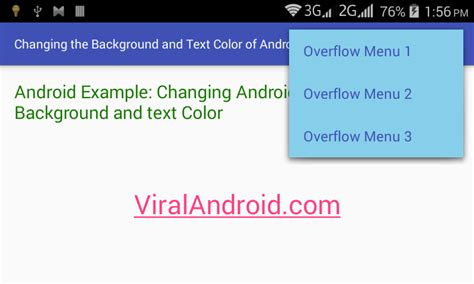 android layout text color how to change the background and text color of android