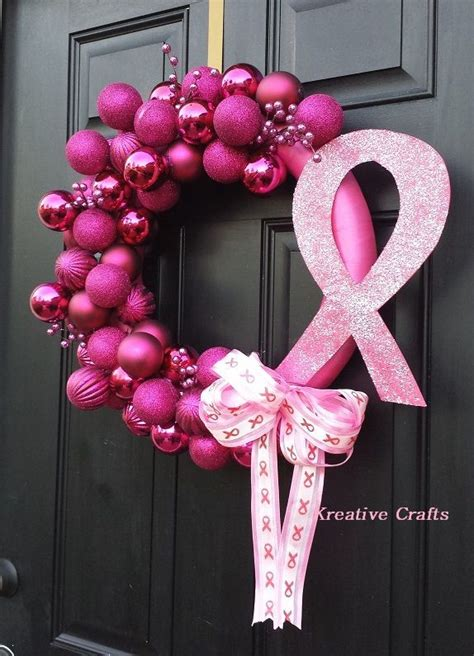 breast cancer craft projects best 25 breast cancer wreath ideas on breast