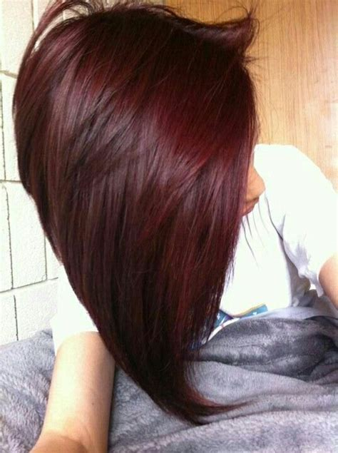 burgundy hair on a burgundy hair hair styles color pinterest bobs