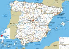 road map of spain ezilon maps