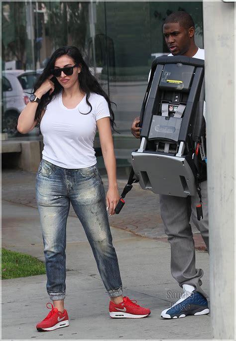 Reggie Bush And Lilit A Gyan Shopping At Bel Bambini Baby