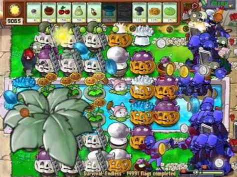 tutorial plant vs zombie survival endless plants vs zombies 14 990 14 992 flags survival endless