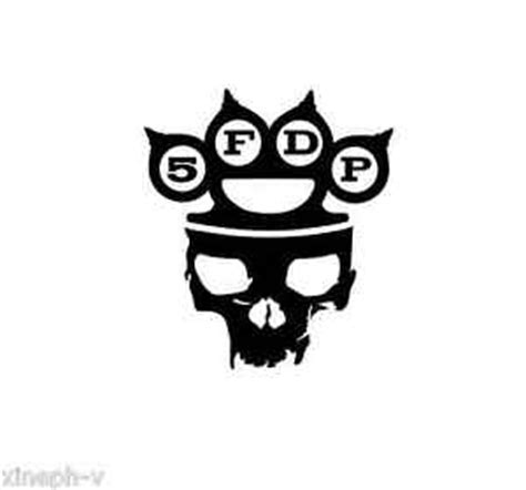 5 five finger death punch vinyl sticker decal cd skull