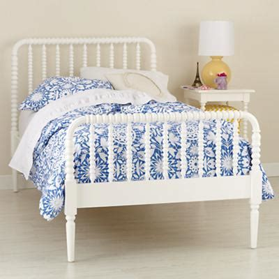 spindle twin bed kids white spindle jenny lind bed land of nod