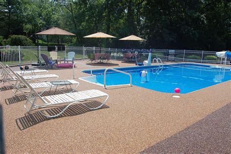 pool deck coating options deck design  ideas
