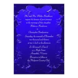 wedding invitations royal blue royal blue wedding invitation 5 quot x 7 quot invitation