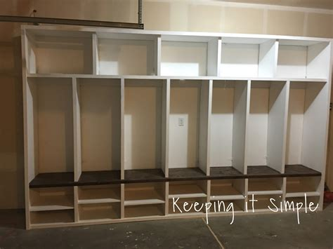 mudroom locker plans diy keeping it simple diy garage mudroom lockers with lots of