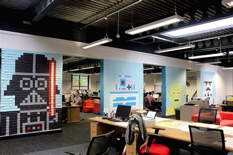 star wars office 22 amazing sticky notes works of art for your wall