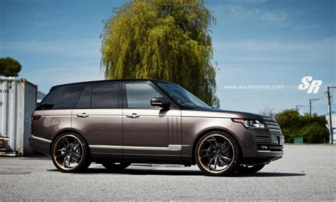 brown range rover eye candy hazelnut brown range rover on pur wheels