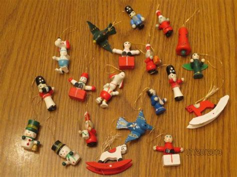1970 s wooden miniature christmas ornaments christmas