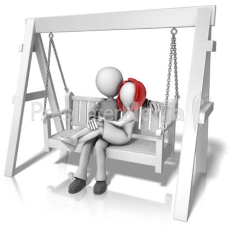 married couples swing on swing bench presentation clipart great