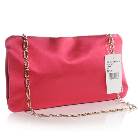 Chanel 2006 Chanel Satin Camellia Evening Purse by Chanel Satin Diamante Camellia Evening Clutch Bag Pink 63731
