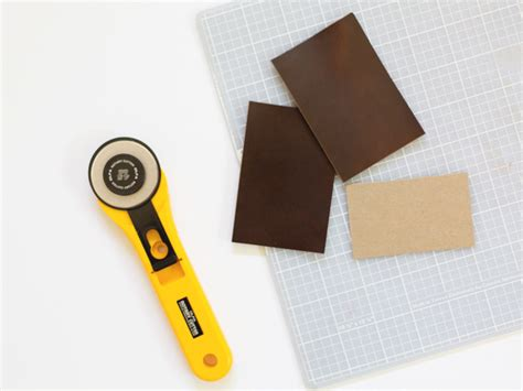 Diy Mat Cutter by Diy No Sew Leather Card Holder For