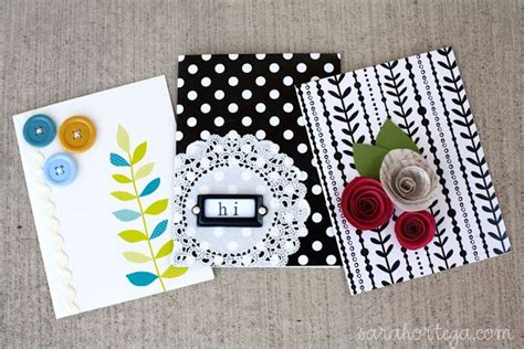 Simple Handmade Cards - cards the and easy version