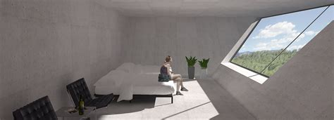 tna reveals inverted pyramid design for solo house in matarra a spain tna architects plans an inverted pyramidal structure for