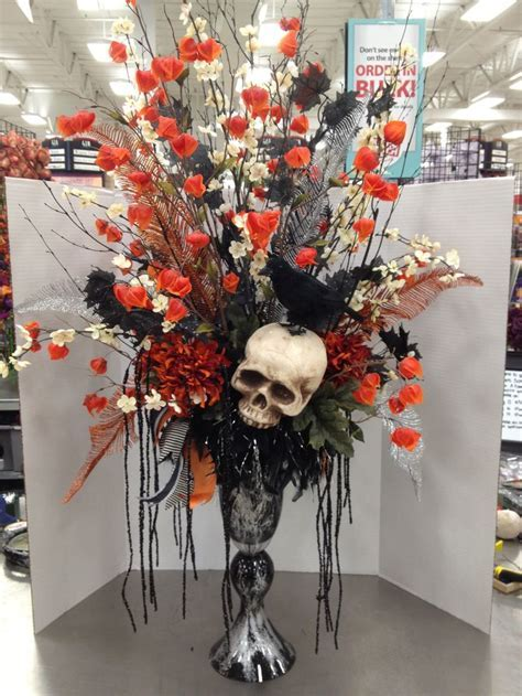 Halloween Traditions Skull Floral Arrangement By Christian