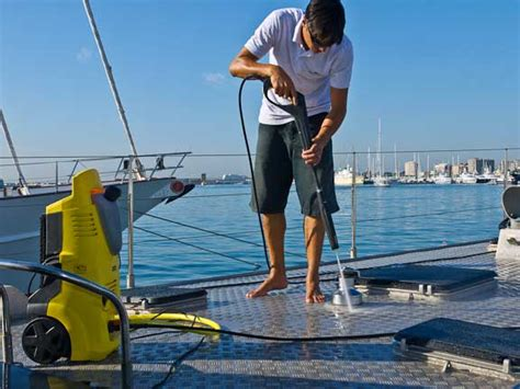 on a boat clean how to clean a boat efficiently by using pressure washer