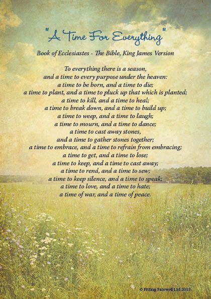 Funeral Poems Memorial Poems To Read At A Funeral Free | funeral reading a time for everything funeral readings