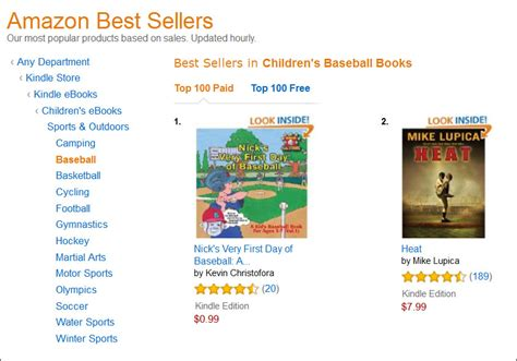 amazon best sellers actual book nick s very first day of baseball becomes an amazon